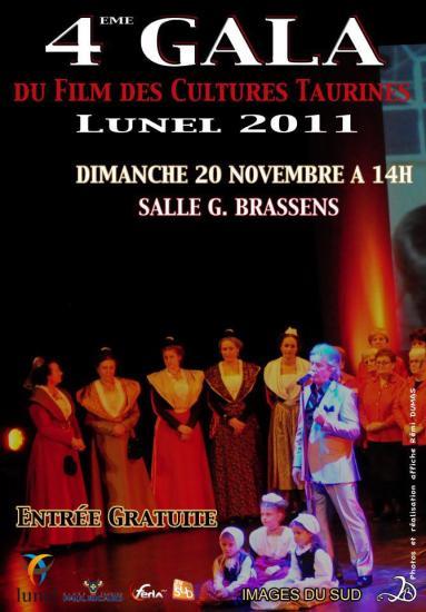 Gala du film des cultures taurines LUNEL 2011